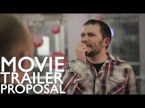 Best Surprise Movie Trailer Wedding Proposal (WITH HER REACTION!) (marriage proposal movie trailer)