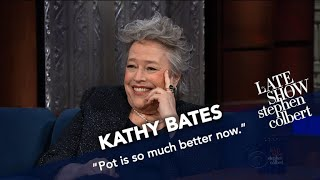 Kathy Bates: Never Share A Joint With A Stranger, Especially Bill Maher
