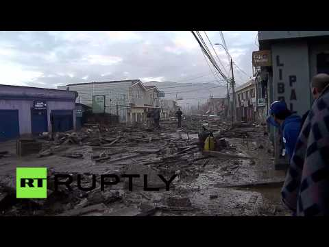 RAW: Chile flash flood devastation, people, pets struggle in mud & wreckage