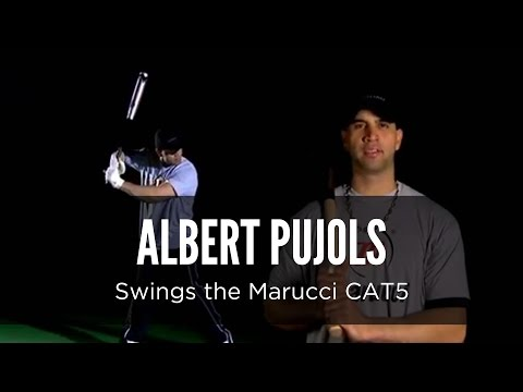 Albert Pujols swings the Marucci CAT 5 bat