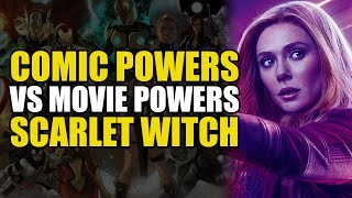 Comic vs Movie Powers: Scarlet Witch