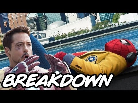 Spider Man Homecoming Trailer 2 Breakdown and Easter Eggs - Iron Spider and New Iron Man suit