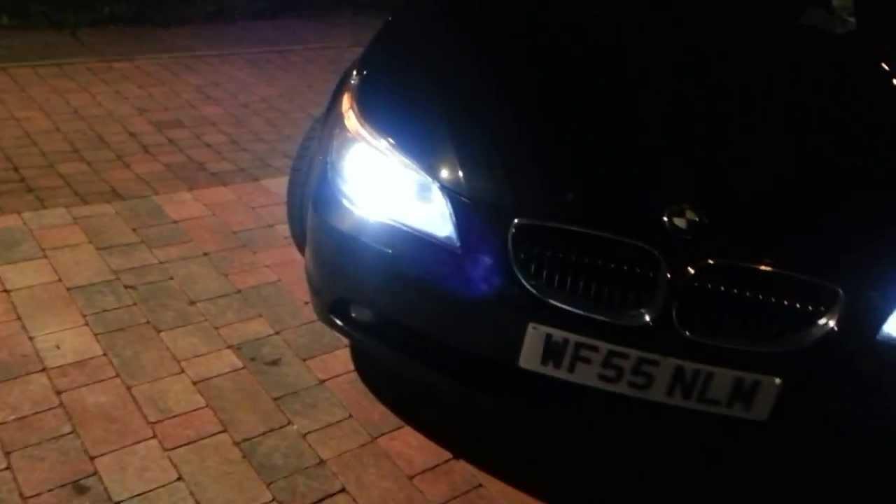 BMW E60 Home Lights Welcome Pathway Lighting Via