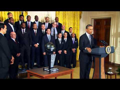 The Miami Heat Visit the White House