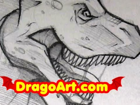 Awesome t Rex Drawings How to Draw a Dinosaur
