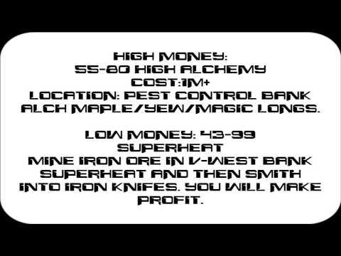 1-99 Magic Guide Runescape 2007. High & Low money methods!