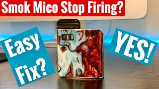 Smok Mico Stop Hitting? Stop Firing? - SOLUTION - Easy Fix Mico Pod Sytem