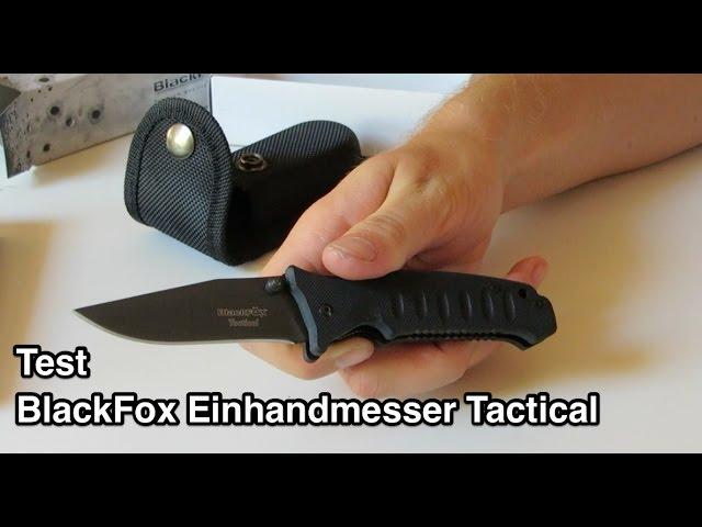 Test BlackFox Einhandmesser Tactical nanokultur.de