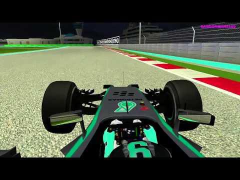 rFactor - F1 2014 - Nico Rosberg Onboard Abu Dhabi HD