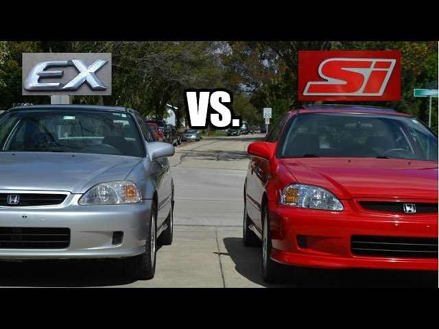 What is the difference between a 2000 Honda Civic Si vs ...