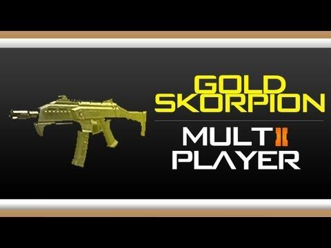 Black Ops 2 GOLD Skorpion Camo Gameplay - How to get Gold Skorpion Evo ... M1216 Gold