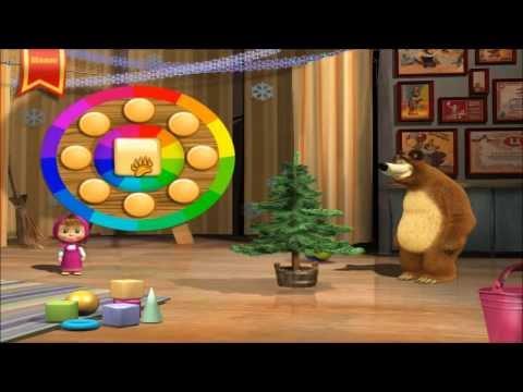 Маша и Медведь Прохождение игры: развивающие задания для малышей полная версия