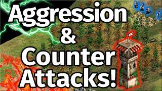 AoE2 Aggression vs Counter-attacking! Which will win?