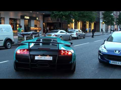 Lamborghini LP670-4 SV BURNOUT! Startup, Rumbles and wheel spins!