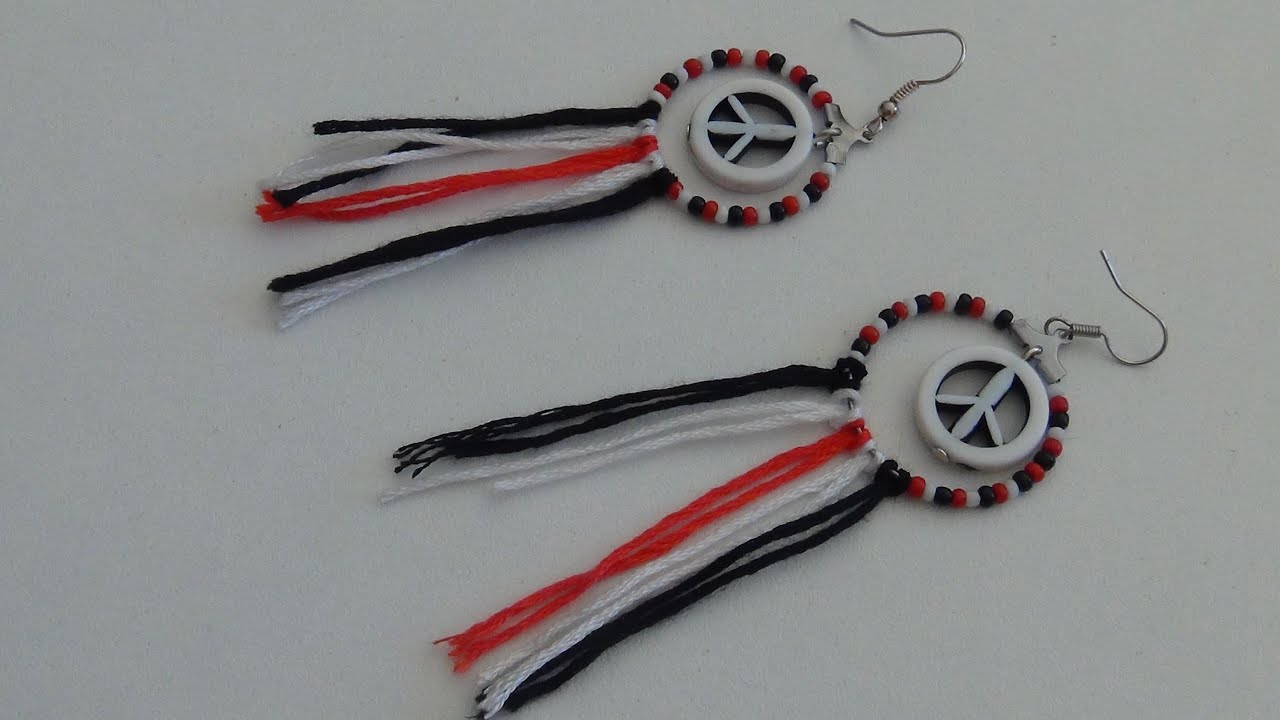 Tuto boucles d 39 oreille peace and love et comment supendre - Boucle d oreille peace and love ...