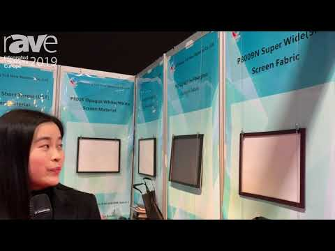 ISE 2019: Zhejiang Yuli New Material Co. Demos New Projection Screens