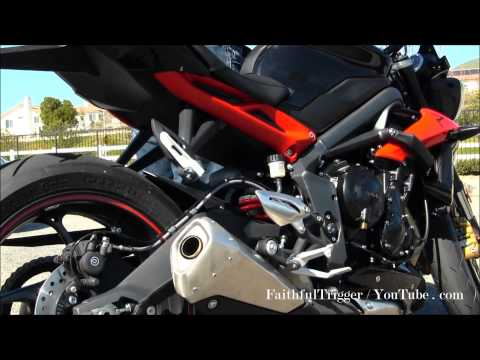 2013 Triumph Street Triple R 675cc Stock Exhaust Whistle Sound Sexy Naked Bike video