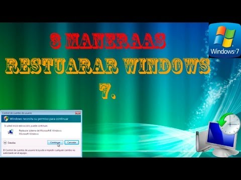 3 maneras de restaurar windows 7 (puntos de Restauración.)