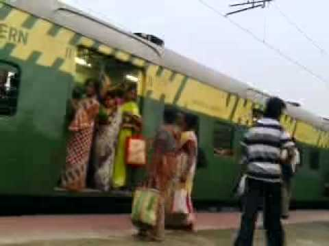 Ladies Compartment In Indian Local Train video