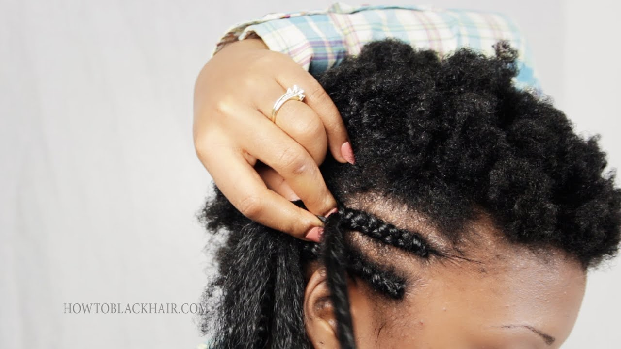 Braiding Natural Hair With Extensions Braid Your Natural 4c Hair