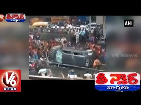 Kanwariya Pilgrims Vandalizes Car In Delhi  | Teenmaar News | V6 News