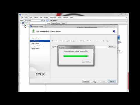 How to update Citrix XenServer 5.5 with Update / Hotfix tutorial