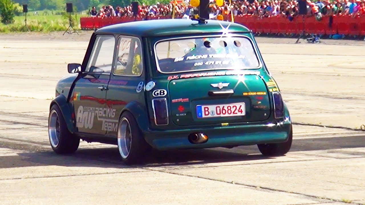 Mini Cooper + Hayabusa Motor Engine 1/4 Mile Drag Race ...