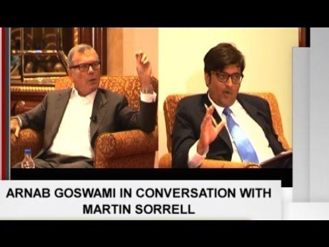 Arnab Goswami Interviews WPP CEO Martin Sorrell | Brand Equity Tonight