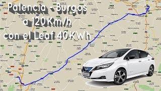 Viaje Palencia-Burgos en Leaf 40KWh a 120kmh