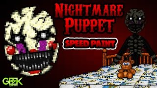 ? Nightmare Puppet - SPEEDPAINT - Five Nights at Freddy's 4 - Pixel art animation