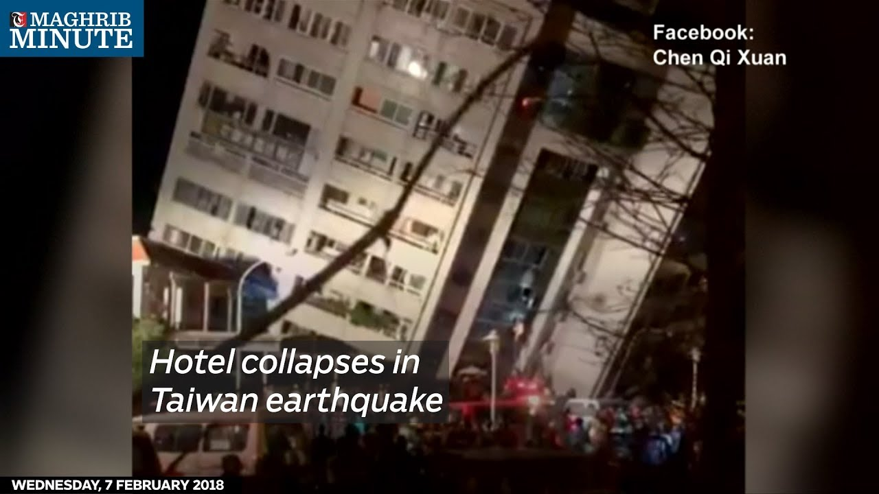 Hotel collapses in Taiwan earthquake