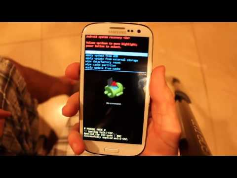 How To Hard Reset Samsung Galaxy S3 SIII SGH-I747M Wipe Data Recovery Menu