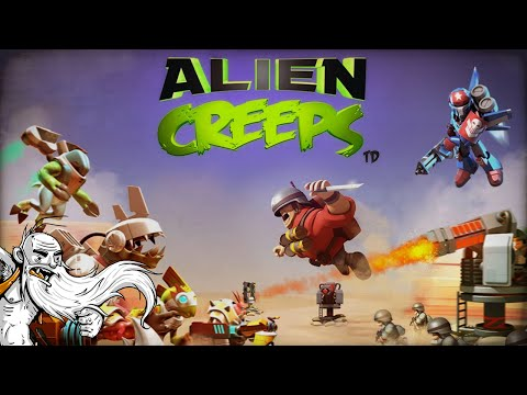 """""""DEFEND EARTH FROM ALIEN INVASION!!!""""  Alien Creeps TD 1080p HD IOS / Android gameplay walkthrough"""