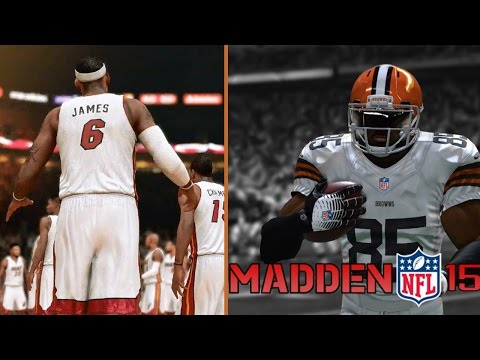 Madden 15 PS4 Connected Franchise - LeBron James Returns To Cleveland