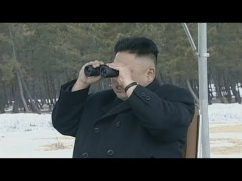 Rare footage of North Korean leader Kim Jong Un judging artillery shooting contest