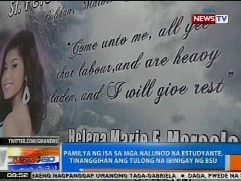 NTG: Pamilya ng isa sa mga nalunod na estudyante, tinanggihan ang tulong na ibinigay ng BSU