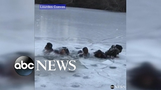 Download Teens fall through ice in Central Park 3Gp Mp4