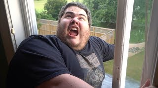 I GOT STUCK IN A WINDOW!! (AND ALMOST FELL OUT)