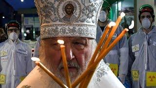 Коронавирус и благовещание. Литургия без прихожан и одинокий патриарх