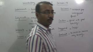 VOCABULARY WITH TRICKS SESSION 9  FOR SSC CGL CHSL GOVERNMENT JOB CLAT