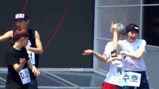 [fancam]130812 exo growl Music Festival in Sokcho 1st Rehersal (Sehun Luhan focus)