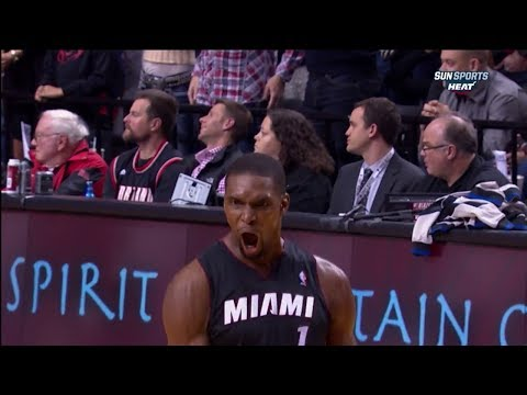 Chris Bosh Full Highlights at Trail Blazers (2013.12.28) - 37 Pts, 10 Reb, Game-Winner!