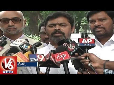 AP TDP MPs Meets Vice President Venkaiah Naidu Over Kadapa Steel Plant | V6 News