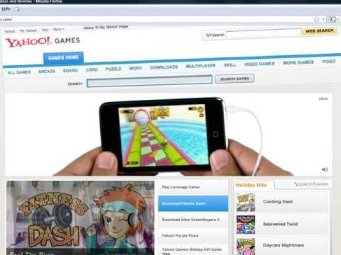 Ipod Touch 2G Animierte Werbung bei Yahoo Games