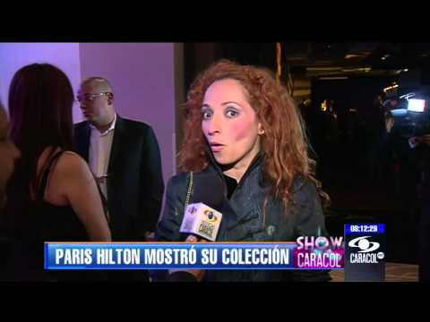 Con un tpico carriel sorprendi Paris Hilton en su desfile - 25 de abril de 2013
