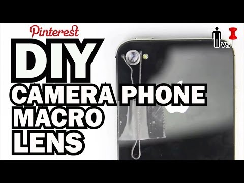 Diy Camera Phone Macro Lens - Man Vs Pin #23 video