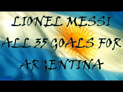 Lionel Messi ● All 35 Goals for Argentina | HD