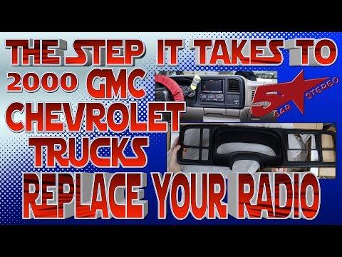 The steps it take to replace your radio. Chevy Silverado or Tahoe GMC Sierra or Yukon