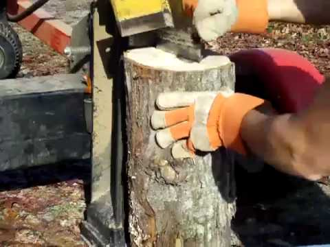 Log Splitter with Homemade 4 way wedge
