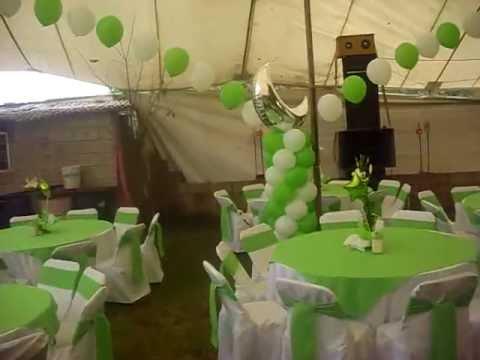 Decoracion con globos xv a os en santa rosa xochiac youtube for Decoracion de globos para 15 anos